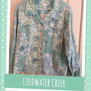 COLDWATER CREEK JACKET IN SOFT PASTEL COLORS